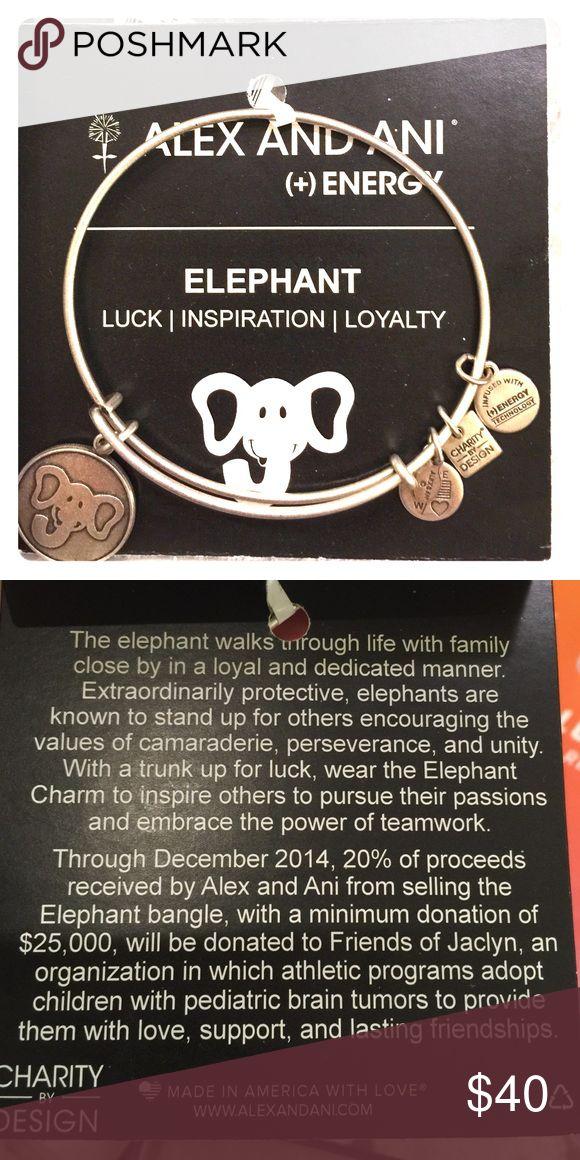 Alex and Ani Elephant bracelet. Silver Love elephants? This Alex and Anib is for you!! New never worn. This is a special edition bracelet whose proceeds went to a charity. Alex & Ani Jewelry Bracelets