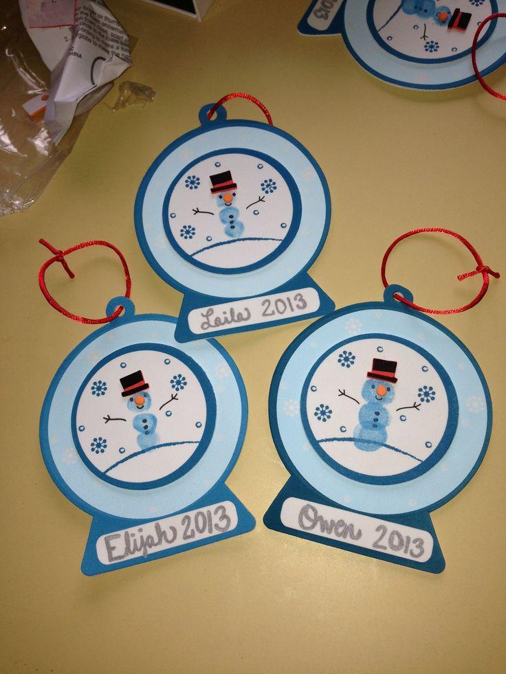Christmas Ornament For Infants Using Thumb Prints Love