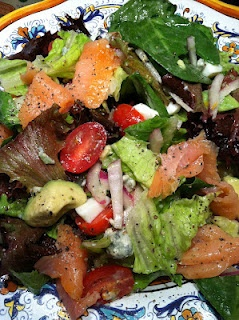 Salmon Salad with Blood Orange Vinaigrette from RipJilly's Kitchen