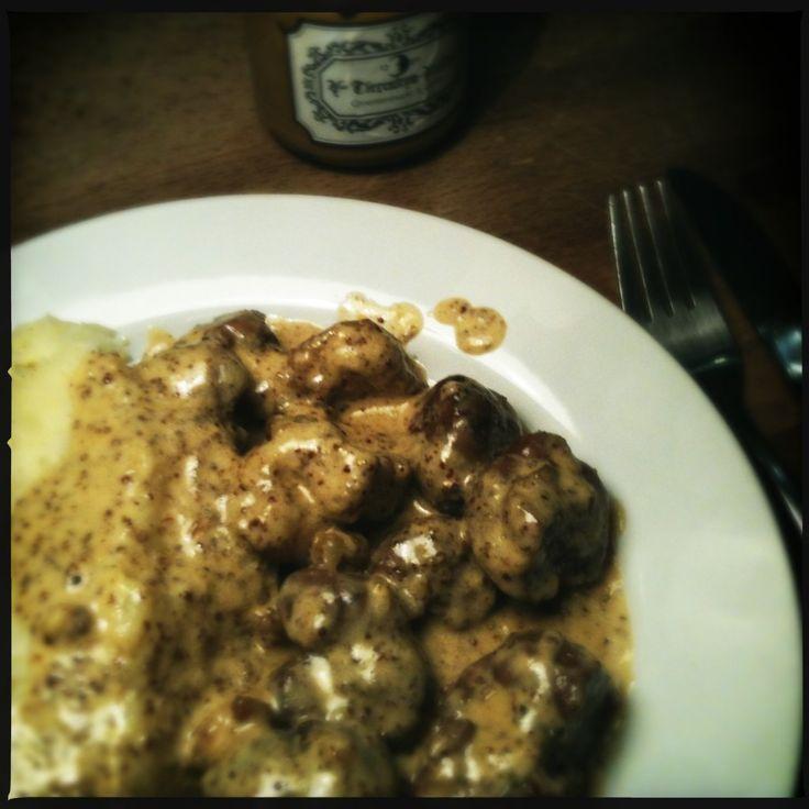 recept Kalfszweriken en -niertjes in mosterdsaus orgaanvlees koken