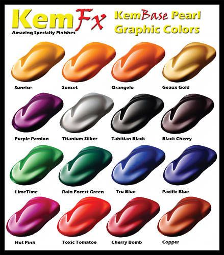 pearl car paint basecoat clearcoat car paint kit 16 hot colors to choose from dollface. Black Bedroom Furniture Sets. Home Design Ideas