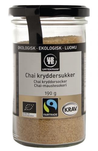 Brown Sugar with Chai spices, Organic, 190 gr   Urtekram A must have for pancake- and cookie lovers Buy it at www.hverdagdeluxe.dk
