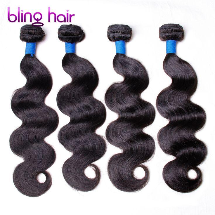 Bling Hair Brazilian Body wave 4 Bundles Nature Black Remy Human Hair For Salon Hair Extention Low Ratio Longest Hair PCT 15%