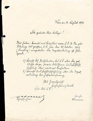 THEODOR HERZL - PRINTED DOCUMENT SIGNED IN INK 08/10/1902