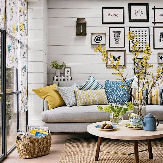 Country Blue Living Room: Best 25+ Blue Yellow Grey Ideas On Pinterest