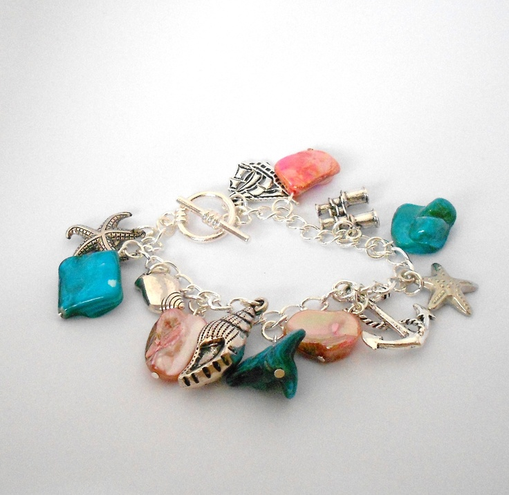 Echoes of the sea charm bracelet.