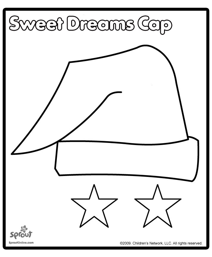 Sweet Dreams Night Cap. Free printable for Library