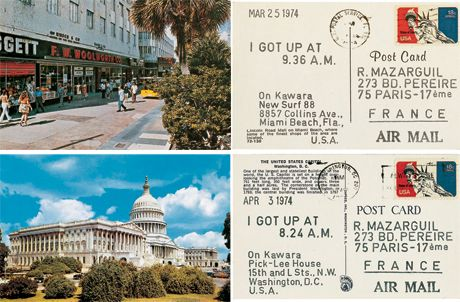 On Kawara, Postcards - I Got Up (1968 - 2014)