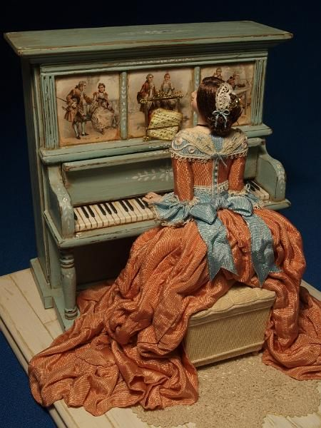 1/12th scale Musical Automata made by Gale Elena Bantock