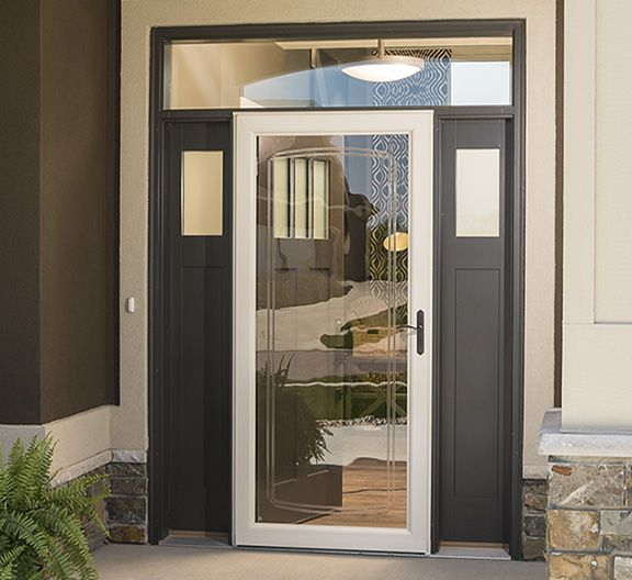 A little bit of bevel and the full glass design really make this Larson Storm Door a great fit! The tan tone really brings out the brown in the house and ... & 11 best STORM DOORS images on Pinterest | Entrance doors Front ...