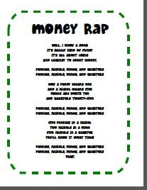 money rap: Money Rap Fre, Teaching Money, Money Wraps, Free Money, Money Rap Cans, Education, Classroom Ideas, Money Rap Ha, Math Money