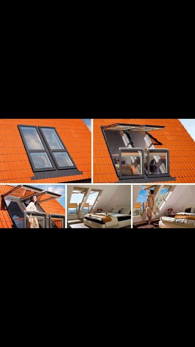 7 besten Dachfenster Bilder auf Pinterest Dachfenster - dachfenster balkon cabrio interieur