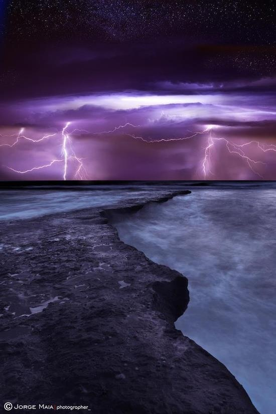 storm by night …fabulous photo by Jorge Maia