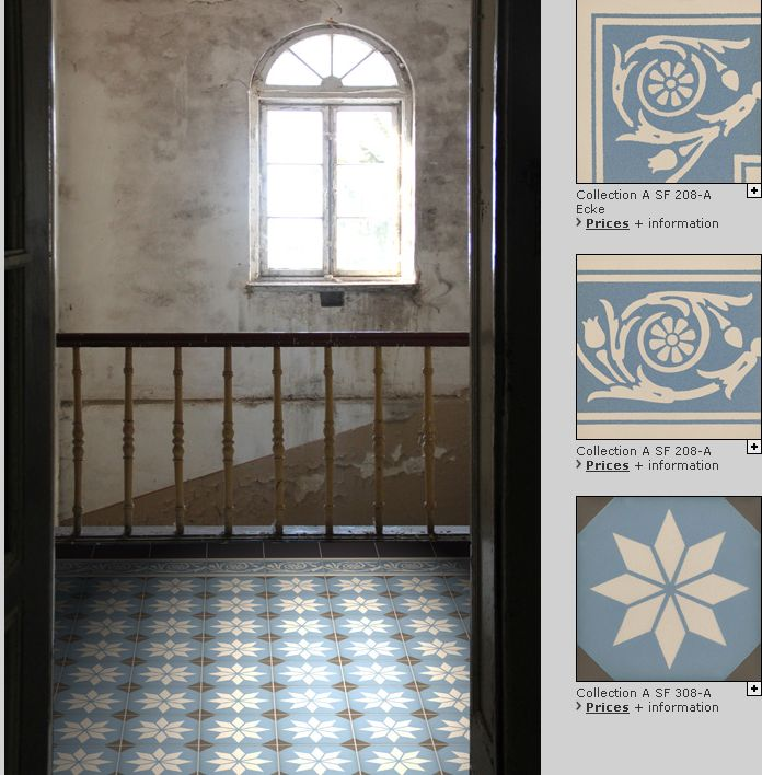 Find more here: www.golem-baukeramik.de  Art Nouveau tiles Our Art Nouveau tiles are produced just as they were in the European tile manufactures around the 1900's. Almost all production steps are carried out manually, including the application of the glazes and the stacking of the kilns. We attach great importance to the fact that our tiles in form, colour and character do correspond to the original's high quality.