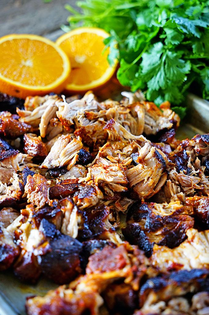 Brazilian Braised Pork in Passion Fruit, Orange and Guajillo Peppers by keviniscooking: Easy enough to shred and make tacos, roll inside enchiladas or stuff a fluffy ciabatta roll, this flavorful pork hits the mark for low level of effort needed and maximum flavor achieved. #Pork #Brazilian
