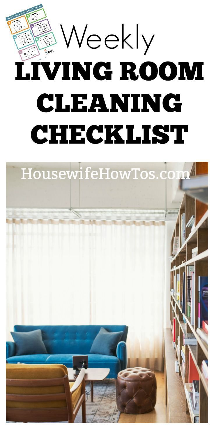 Weekly Living Room Cleaning Checklist | Clean better and faster than ever. | #cleaningchecklist #cleaningroutine
