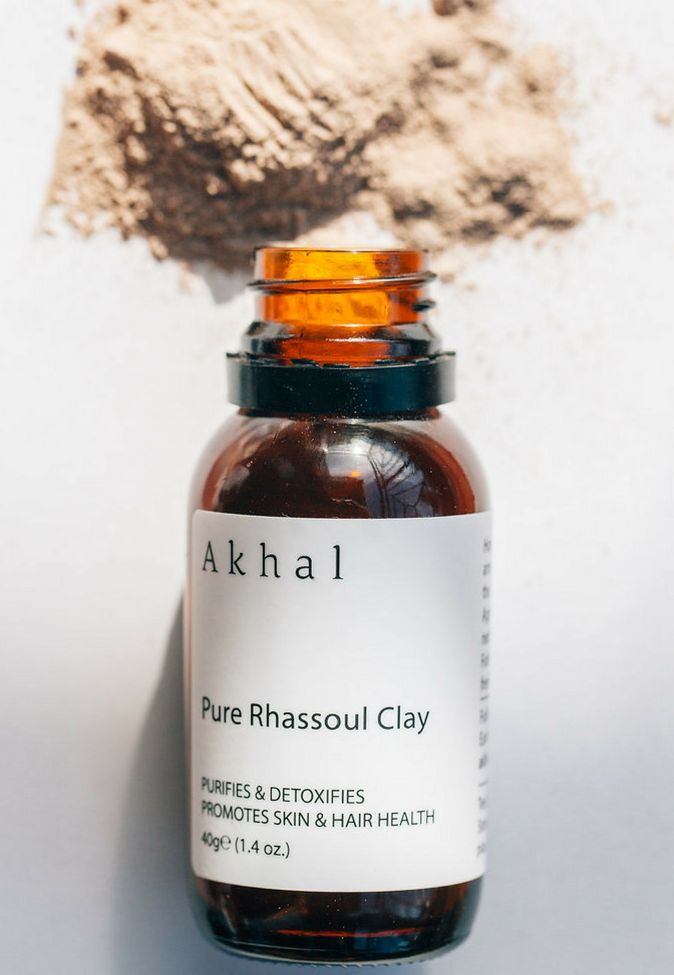 Rhassoul Clay is a deep cleansing clay mask. Certified organic, cruelty free and vegan beauty skincare product.