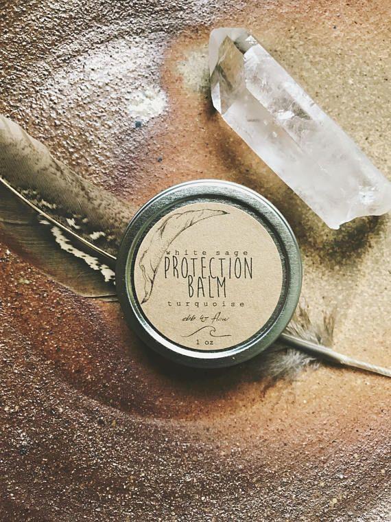 BAUME DE PROTECTION   blanc sauge + turquoise   sauge blanche bio, armoise, & Baume lavande à mettre au diapason de l'esprit