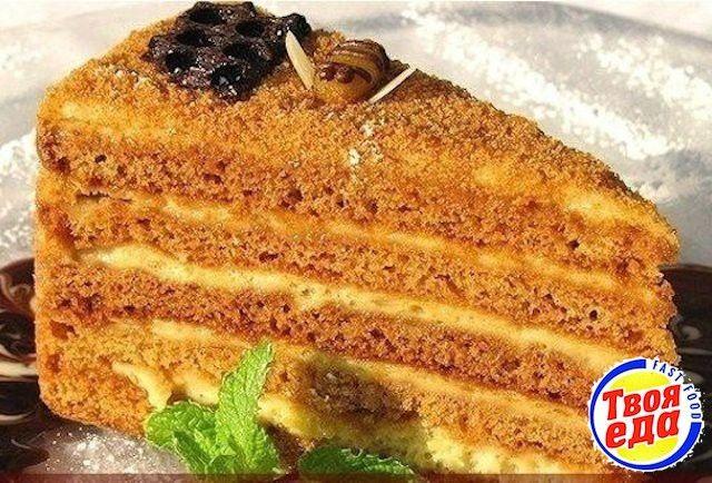 Восхитительный торт Медовик - Кулинарные рецепты