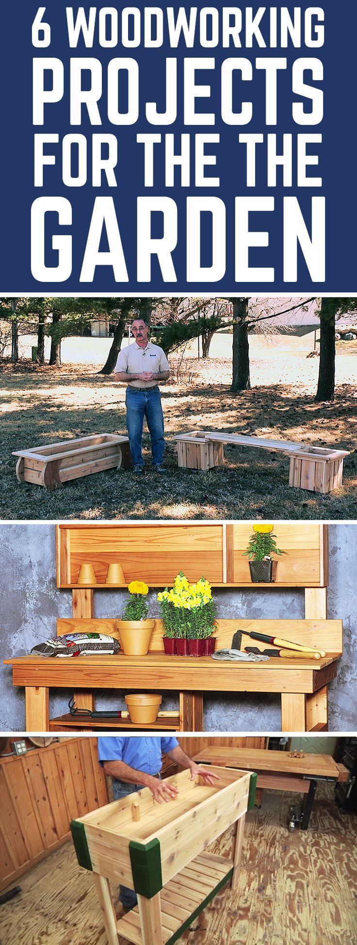 6 Woodworking Projects for the Garden 606