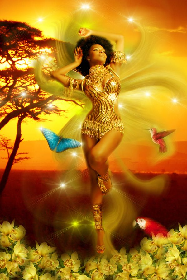 Oshun - Goddess of creativity, sensuality, the river  Join JourneyDance with Jeanine Orishas Spring Awakening  Monday March 3, in Midtown Manhattan  http://jeanine-abraham.healthcoach.integrativenutrition.com/events/2014/03/JD-with-j9-orishas