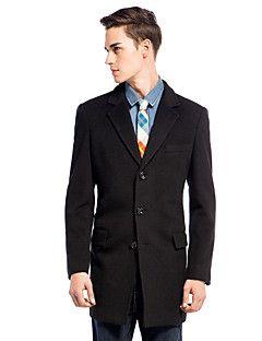 Slim Notch Lapel Outwear In Wool-cashmere