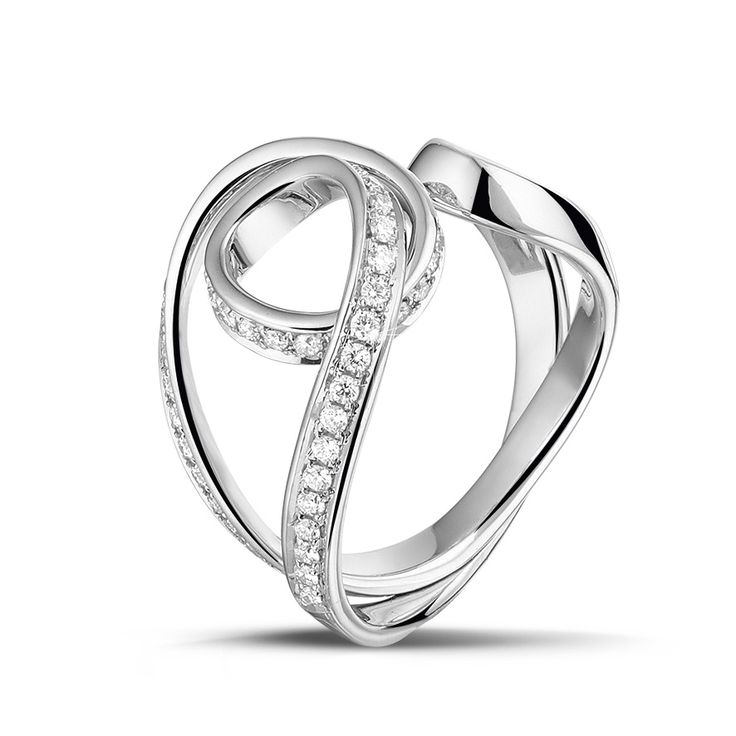 'Dancing Lady' diamond pave #ring by Baunat