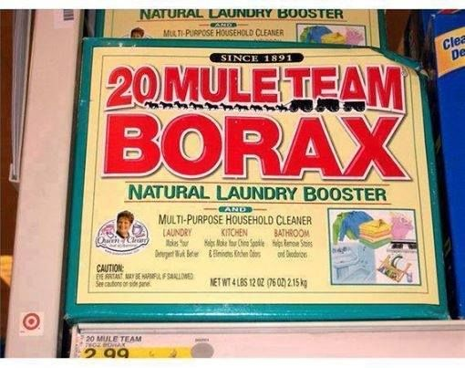 SHARE THIS... has good ideas and can get rid of fleas in a house!!!  Borax is a mineral, found in large quantities in Turkey and in Boron, California in Death Valley. 20 Mule Team Borax is the brand name of a cleaning product that contains borax and has been on the market for almost 120 years. It was originally touted as a laundry booster in the 1890's and over the last century has been useful in many different ways.   How to Clean With Vinegar & Borax  1) Cleanser  Borax can replace the ...