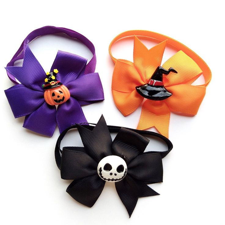 50/100pcs Halloween Pet Canine Cat Bow Ties/Bowties Adjustable with Cute Resin Canine Equipment Canine Collar Pet Provides