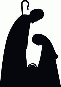 la sagrada familia en blanco y negro