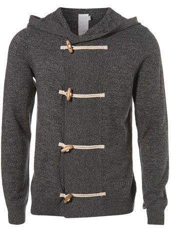 The grown up version of the hoodie.   Topman Grey Hooded Cardigan $40.00
