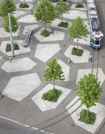 Tessinerplatz by KuhnTrunniger Landschaftsarchitekten (Enge, Zürich)