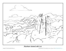 free printable coloring page about abraham and lot for church sunday school home school or home visit for all your printable bible activities