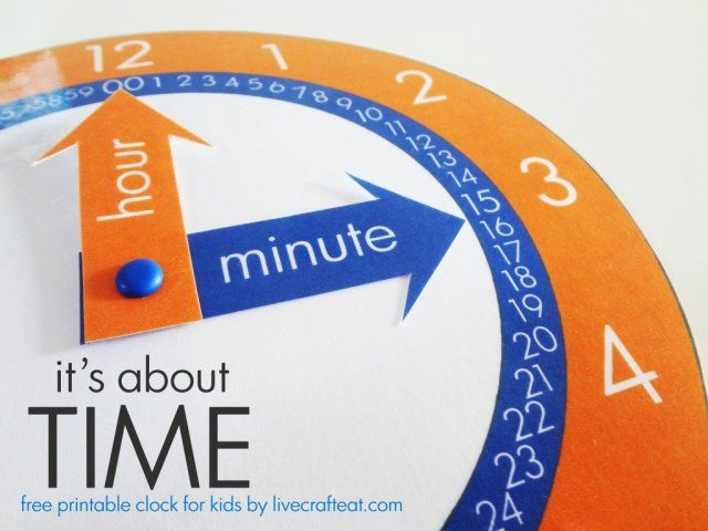 a free printable clock to help teach your child how to tell time. | www.livecrafteat.com