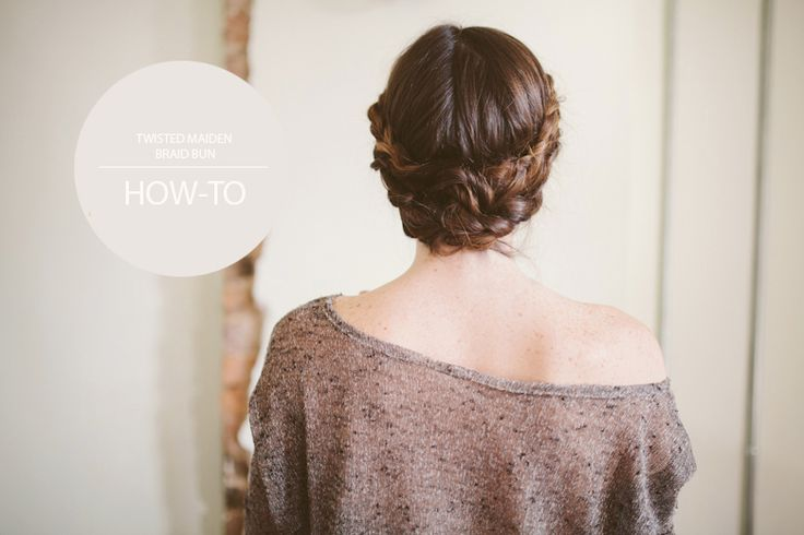 Another beautiful hair DIY via Sincerely, Kinsey: Twisted Maiden Braid Bun // Hair Tutorial