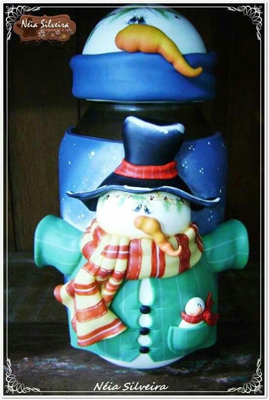 Pote boneco da neve da Neia Silveira