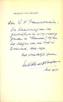 Dit is een brief geschreven door Erik Hazelhoff Roelfzema.