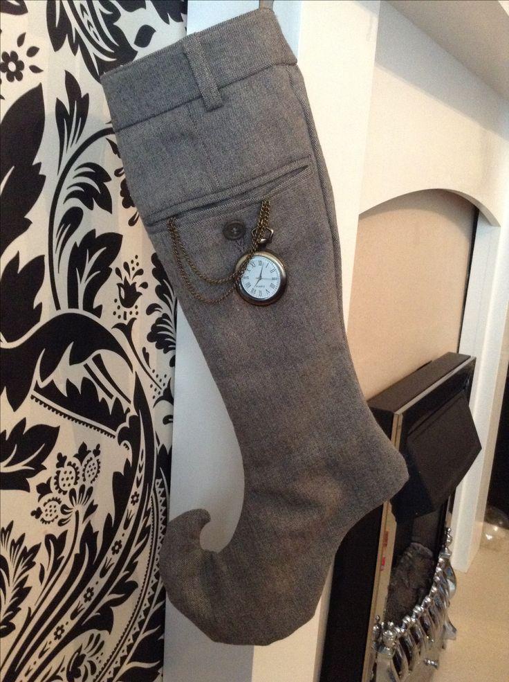 Upcycled Steampunk Xmas stocking