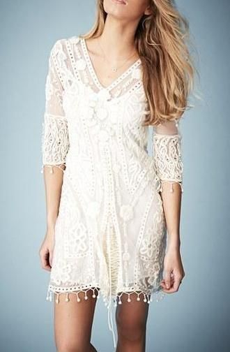 In love with this Kate Moss for Topshop crochet midi dress!