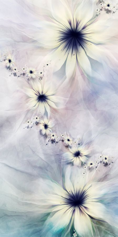 Fractal Flowers generated with UltraFractal software