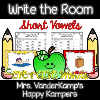 This activity will have students up and out of their seats! Students walk around the room, look at pictures with short vowels, sound them out, and write them down! There are worksheets for beginning sound, middle/ending sounds, and whole word. This pack covers: CVC words CCVC words CVCC words Short A Short E Short I Short O Short U