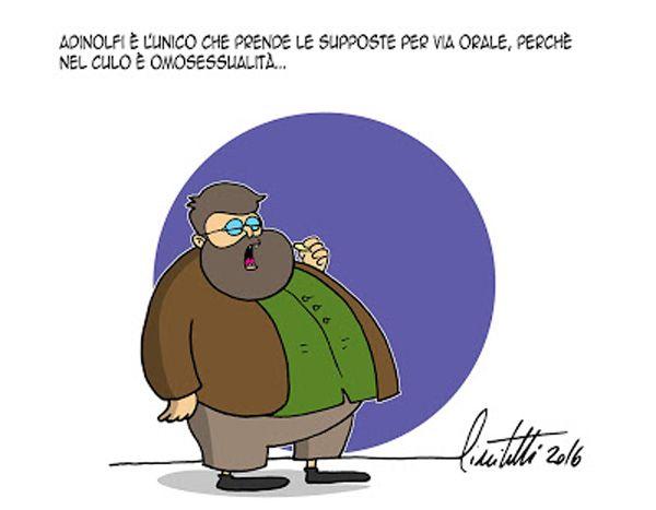 Coerenza...omofoba #IoSeguoItalianComics #Satira #Politica #omofobia #Adinolfi