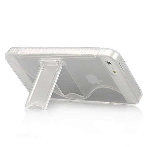 Simple Stent Pattern Matte TPU Hard Case For iPhone 5 - Transparent