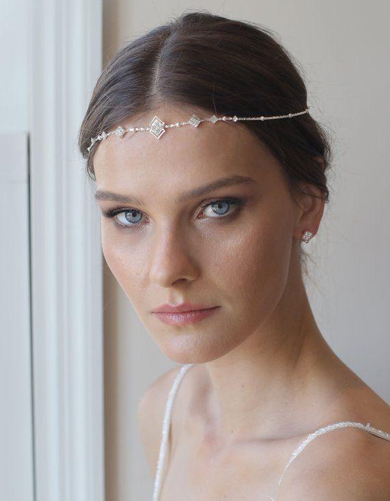 Boho Bridal Headband, wedding hair accessories,