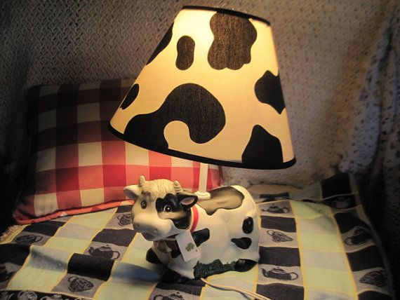 Sweet cow lamp darling in country kitchen not included in clearing out sale new listing - Kitchen cow theme ...