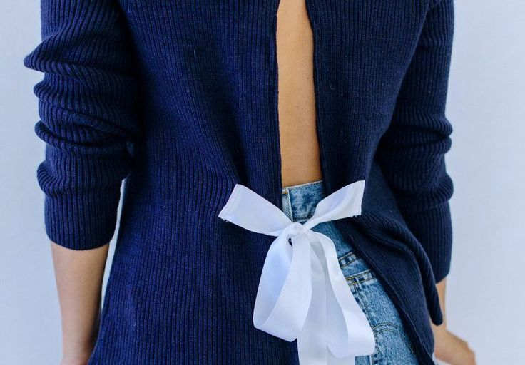 A Pair & A Spare | DIY Bow Back Sweater