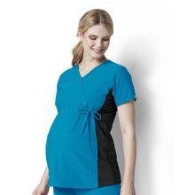 WonderWink Maternity Stretch Mock Wrap Scrub Top Style 6445 www.ScrubAnnex.com