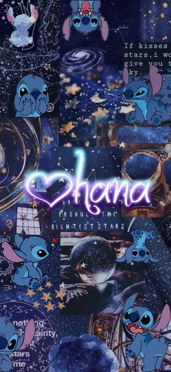 Lilo & Stitch Ohana Aesthetic Wallpaper Galaxy for iPhone