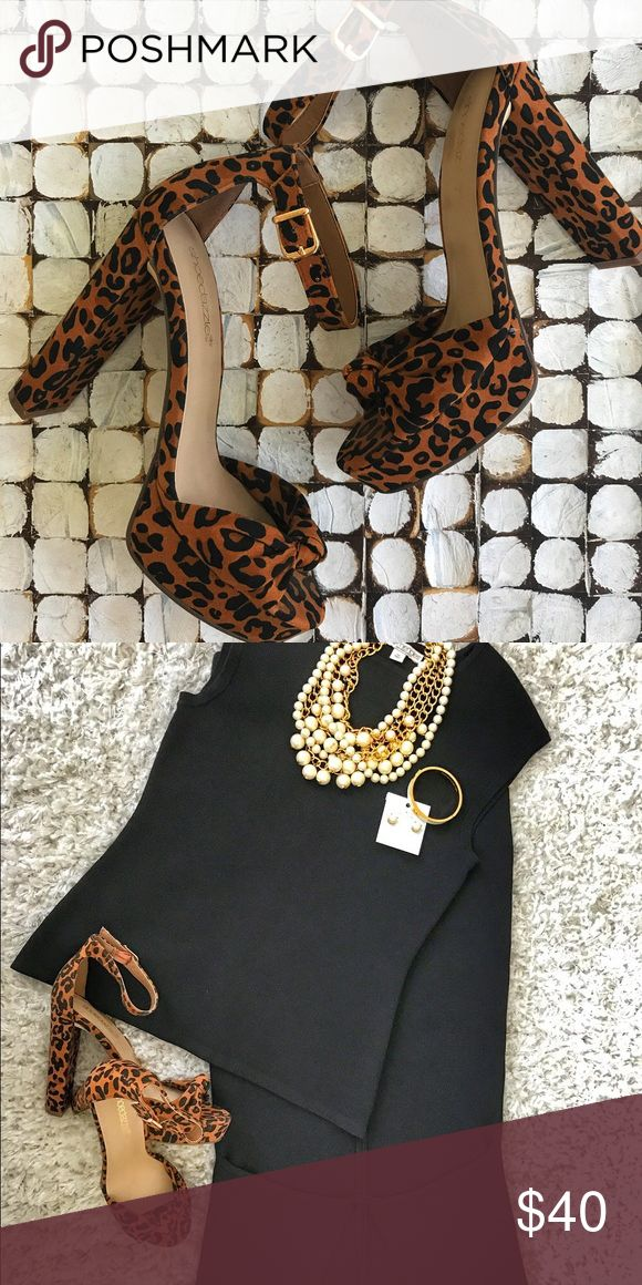 ShoeDazzle Animal Print High Heels Perfect for the Holidays 🛍🎄 From my ShoeDazzle Collection - These super cute animal print are easy to mix and match and perfect with any outfit!!! New in box. Never used. Get ready for the Holidays! ❤️ ShoeDazzle Shoes Heels