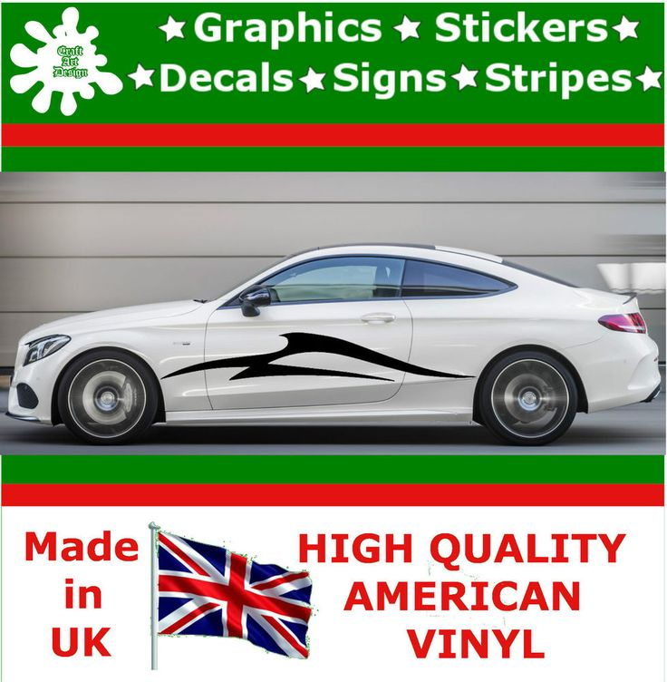 "10"" High Car Side Stripes Graphic Decal Vinyl Sticker Van Auto Rally Race F1_111"